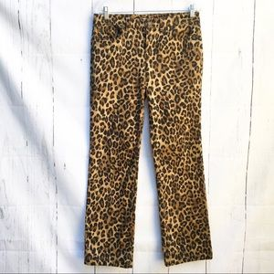JNY Sport Pants Modern Fit Slim Boot Cut Cheetah 8